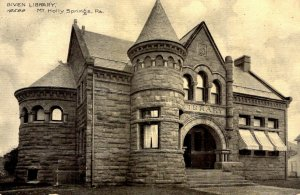 Mt. Holly Springs, Pennsylvania - The Given Library - c1908