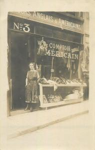Carte foto boutique comptoir anglais & americain magasin store shop commerce 20s