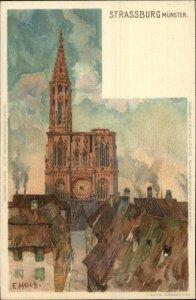 Strassburg Germany Munster E. HOCH c1900 Ernest Nister Postcard