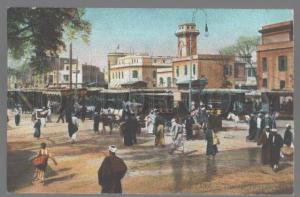 099042 EGYPT Cairo Tramway Terminus Vintage colorful PC