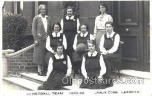 Leslie Cobb Lewisham College, London, UK Basketball Postcard Postcards  Lesli...