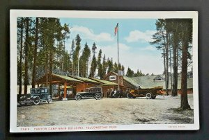 Mint Vintage Yellowstone National Park Canyon Camp Main Building 1920s Postcard