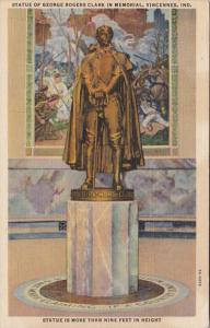 Indiana Vincennes Statue Of George Rogers Clark In Memorial Curteich