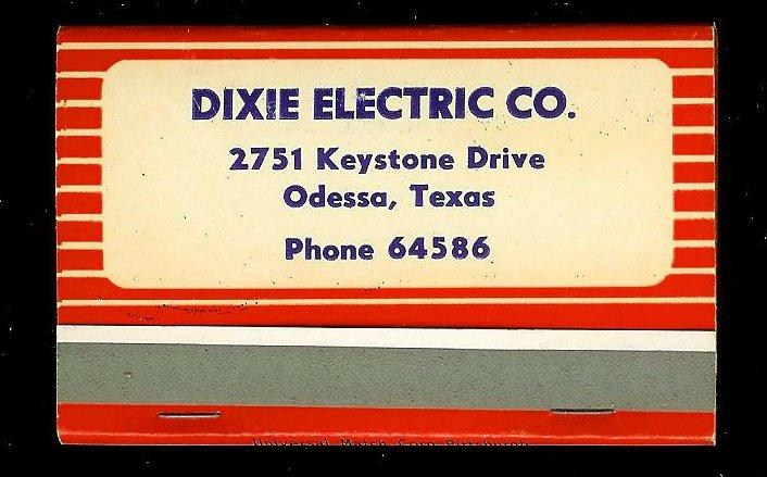 WESTINGHOUSE/DIXIE ELECTRIC Full Unstruck Matchbook