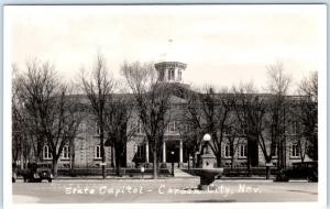 RPPC  CARSON CITY, Nevada  NV    STATE CAPITOL  ca 1940s Real Photo  Postcard