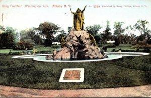 New York Albany Washington Park King Fountain 1906