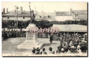 Old Postcard Poitiers The statue of liberty