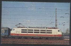 Germany Train Electric Locomotive Railroad German Vintage Postcard