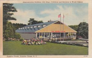 New York Ausable Chasm Entrance Administration Building Gift Shop & Cafeteria...