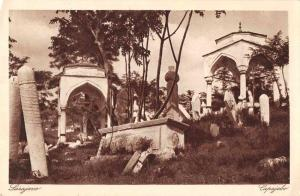 Sarajevo Bosnia Cemetery Tombs Scenic View Antique Postcard J72220
