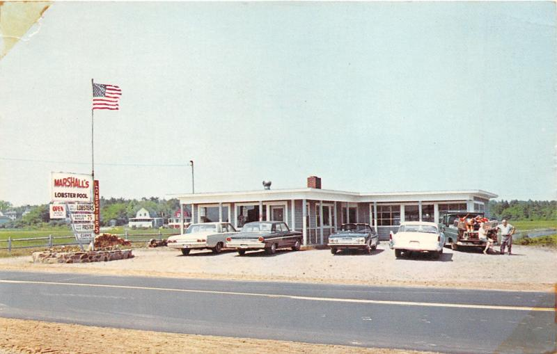 Rye New Hampshire~Wallis Sands~Marshalls Lobster Pool~Family in Pickup Truck~60s