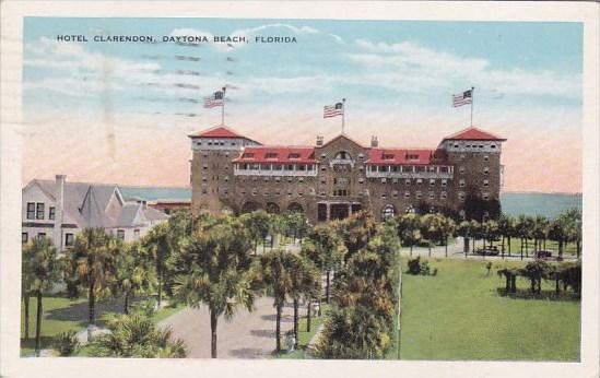 Florida Daytona Beach Hotel Clarendon 1931