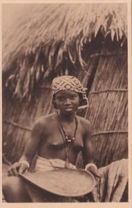 Africa Nude Topless Senegal Preparation du Mil