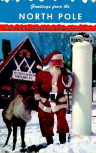New York Adirondacks Greetings From The North Pole Santa's Workshop Sant...