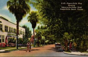 Florida Pass-A-Grille Beach Pass-a-Grille Way Showing Sekon-in-the-Palms Hote...