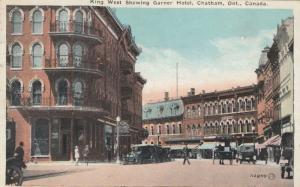 CHATHAM , Ontario , Canada , 1925 ; King Street , West , Showing Garner Hotel