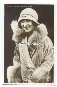 r2017 - Duchess of York - Elizabeth Bowes-Lyon wife of King George VI - postcard