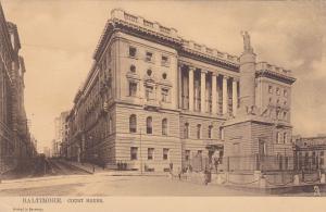 TUCK #1017, Court House, Baltimore, Maryland, PU-1907