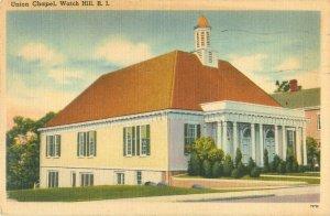 Union Chapel Watch Hill, Rhode Island 1953 Linen Postcard
