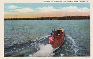 Louisiana Lake Charles Splitting The Waves On Lake Charles
