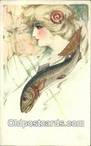 Artist Samuel Schmucker, non postal backing - Unused very light wear