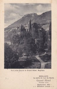Bogliaco Grand Hotel Advertising Antique Postcard