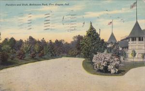 FORT WAYNE, Indiana, PU-1910; Pavilion And Walk, Robinson Park