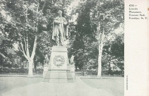 Lincoln Monument, Prospect Park, Brooklyn, New York, Early Postcard, Unused