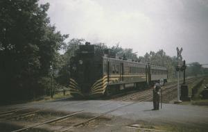 Erie Railroad Gas-Electric Car No. 5010 Train Railroad Postcard