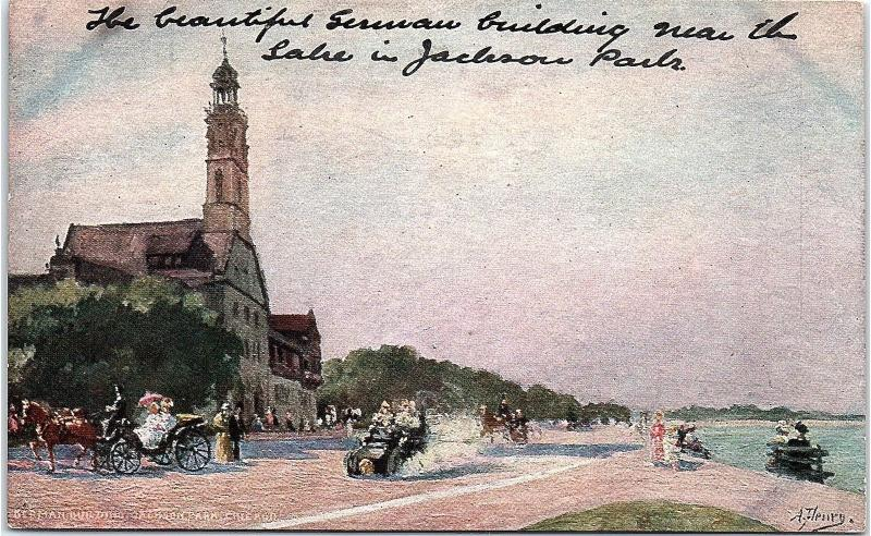 Postcard IL Chicago German Building Jackson Park UDB Unposted E18