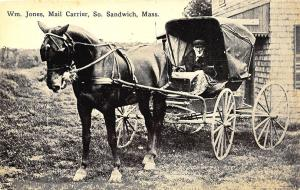 Sandwich MA William Jones RFD Mail Carrier Horse & Wagon Postcard