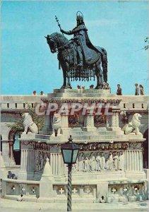 Modern Postcard Budapest St Stephen's monument