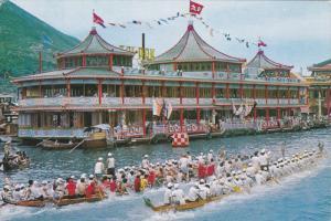 Floating Restaurant Tai Pak , Hong Kong , China , 50-70s