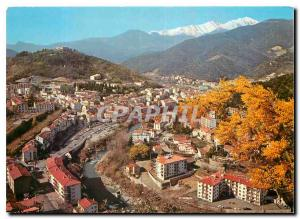 Modern Postcard Amelie les Bains Pyr Gold Pearl of the Pyrenees Canigou Gener...
