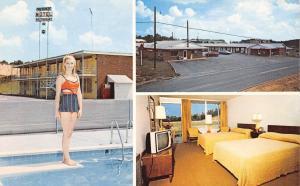 Calhoun Georgia~Cherokee Motel~Bathing Beauty Poses~Diving Board~Guest Room~1965