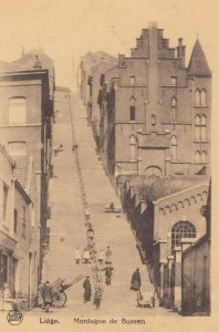 Liege, Belgium, 1900-1910s ; Montagne de Bueren