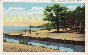 Michigan Cadillac Bathing At Lake Mitchell 1957 Curteich