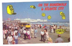 On The Board Walk In Atlantic City, New Jersey, 40-60s