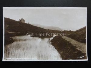 Yorkshire ILKLEY The Lower Tarn & White Wells - Old RP Postcard by W. Scott 5310