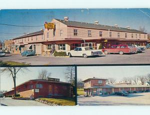 Pre-1980 OLD CARS & MCNEAL HI-WAY MOTEL Des Moines Iowa IA r0617