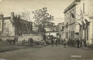 turkey, CHANAK ÇANAKKALE, Street Scene with People (1910s) RPPC Postcard