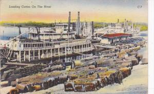 Tennessee Memphis Loading Cotton On The River
