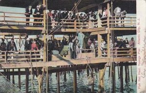 New Jersey Atlantic City Fish Net Haul Youngs Pier 1908