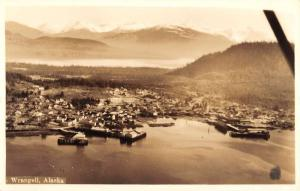 Wrangell Alaska Birdseye View Scenic Real Photo Antique Postcard K22491