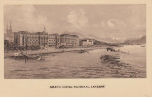 LUZERN, Switzerland, 1910-20s; Grand Hotel National, Ships