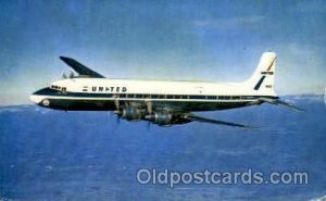 United Airlines Four Engine DC-7 Mainliners Airplane, Aviation, Unused light ...