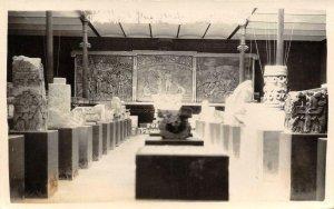 RPPC Mexico Museum Aztec? Mayan? Tarjeta Postal c1940s Vintage Photo Postcard