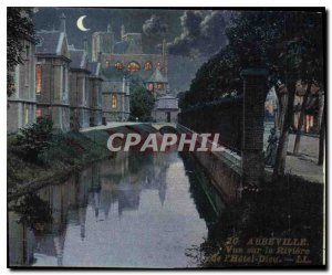 Old Postcard Abbeville Overlooking the River