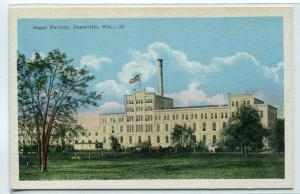 Sugar Factory Janesville Wisconsin 1920c postcard