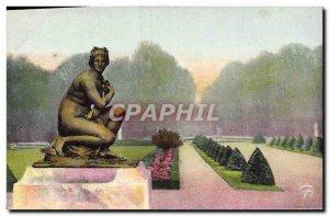 Old Postcard Versailles Venus modest and flower beds